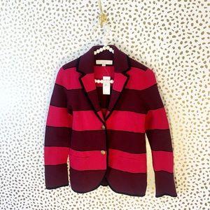 NWT Loft Striped Sweater Blazer