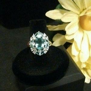 Jewelry - 🌼 SALE_ Gorgeous Lake Blue Aqua Ring