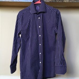 English LAUNDRY Striped Button Down 15 1/2 /32/33