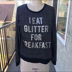 Glitter graphic print shirt