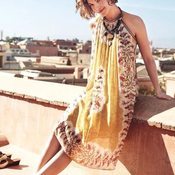 772787295215 Anthropologie Dresses & Skirts - 🆕 Anthro Yellow Soleil Swing Dress Bhanuni  ...