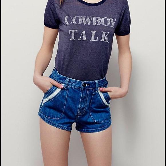 Free People Pants - NWT! Free People Hi Waist Denim Jeans Shorts Sz 30