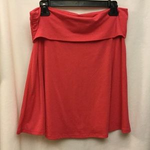 Mossimo size L stretchy skirt coral color.