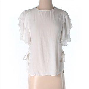 Zara Basics short flutter sleeves
