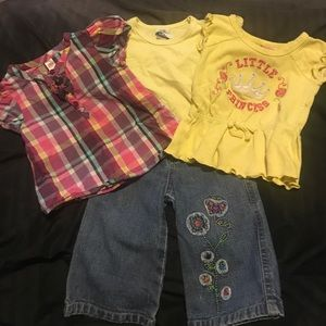 Other - 3 tops w/pair of jeans all 12 months