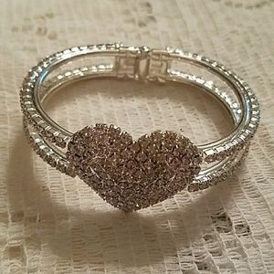 Jewelry - NEW Pave Hinged Clamper Bangle Bracelet