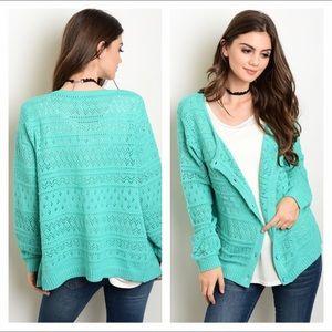 Sweaters - NIP sage knit cardigan