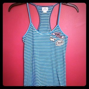 American Eagle Racerback with Patches