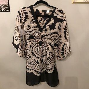 V-neck kimono style dress