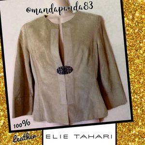 Elie Tahari Leather Blazer