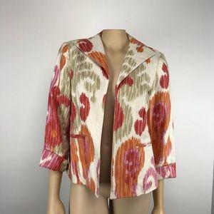 3 Sisters Linen Jacket Size Medium