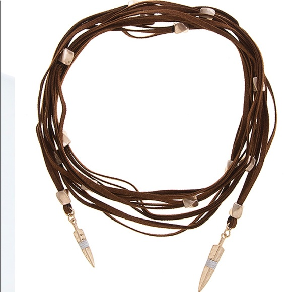 Evolving Always Jewelry - 🆕Luxe Choker Brown Vegan Cording Metal Beading