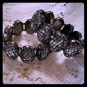 Jewelry - BOGO Sexy Fishnet Lace Overlay Rhinestone Bracelet