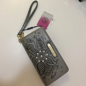 Nicole Lee Bags - Nicole Lee wallet / wristlet - SILVER  NEW