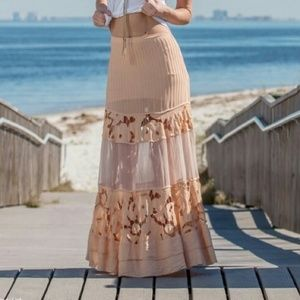 SALE! Free People Lace Inlay maxi