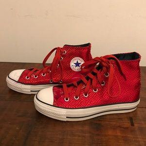 Red Satin Converse Chuck Taylor All Star Hightops