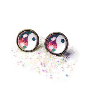 Wildflower Yin Yang Earrings