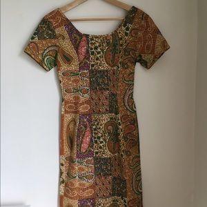 Dresses & Skirts - Vintage Paisley Wiggle Dress