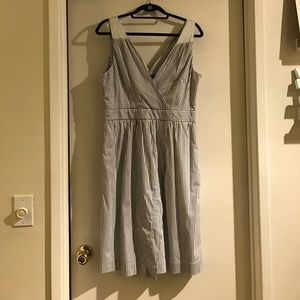 BNWT Banana Republic Stripe Crossover Dress - 12
