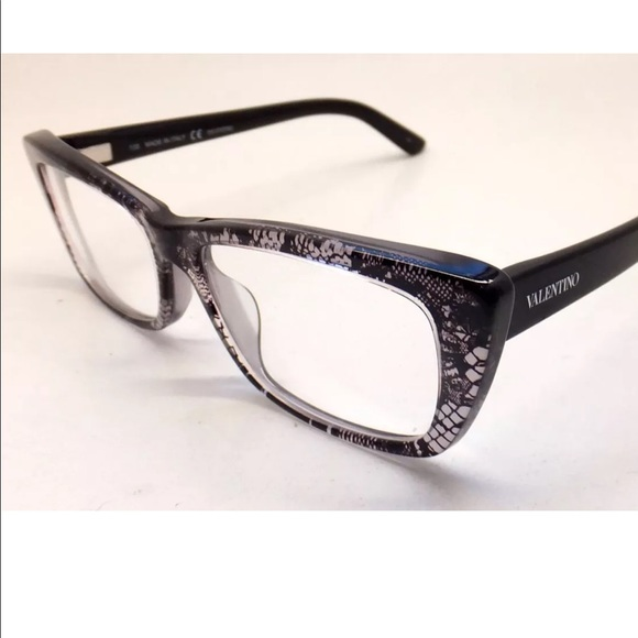 Valentino Accessories | Cat Eye Square Black Lace Eyeglasses | Poshmark