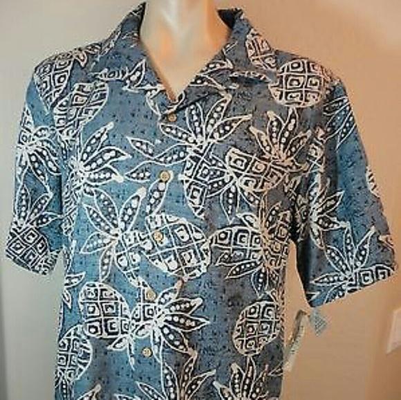51 off batik bay other nwt batik bay men 39 s hawaiian for Men s batik bay silk blend button down shirt