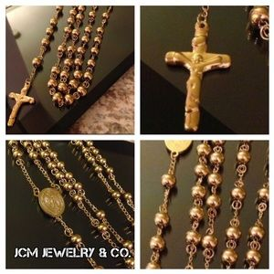 14K Gold Plated Rosary Necklace