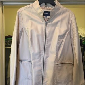 Cream Leather Jacket - brand new w/ tags