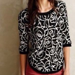 Anthropologie rose sweater top moth pullover