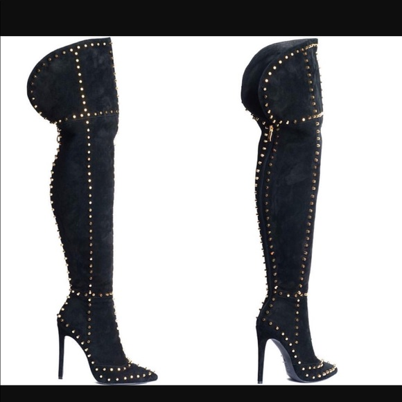 63% off Shoes - Size 10 studded knee high boots ! New from ...