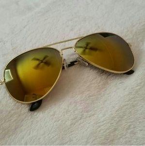 Accessories - New Yellow Aviator Sunglasses