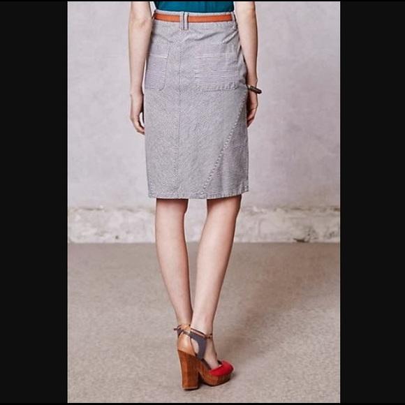 8527b23078 Anthropologie Dresses & Skirts - Anthropologie Pilcro Railroad Stripe Denim  Skirt