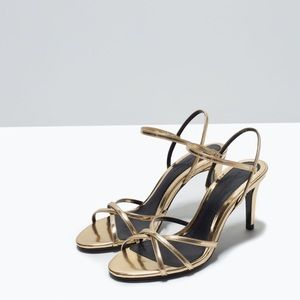 Zara High Heel Shiny Sandal by Zara