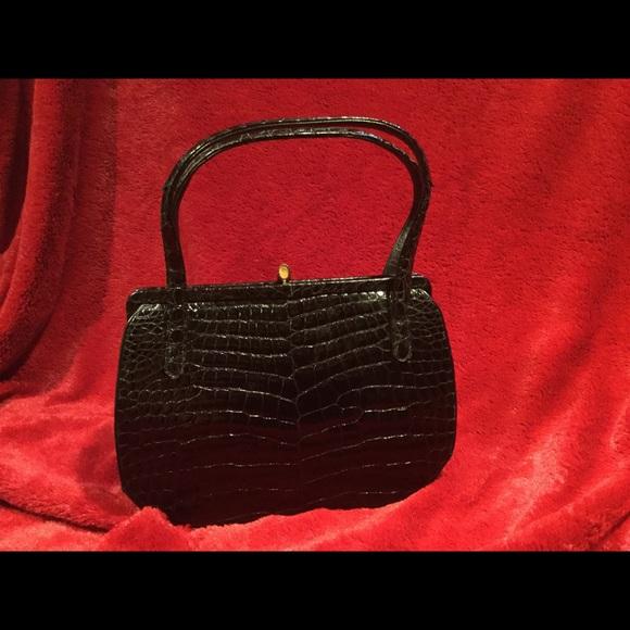Rendl original Bags   Vintage Alligator Embossed Hand Bag   Poshmark 4c4866409d