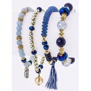 Into The Blue Beaded Bracelet