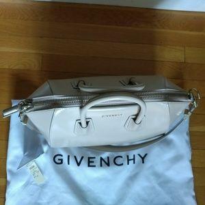 562cf3e275bf ... promo code 6fa52 ed277 Givenchy Bags - Givenchy Antigona Glazed Leather  Satchel in Sand ...