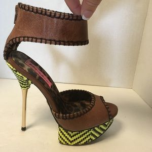"Funky Betsy Johnson Leather 5.25"" Platform Pumps"
