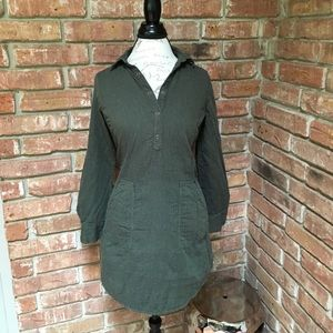 Tops - Tunic with rollup sleeves