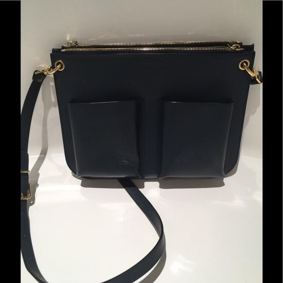 top style deft design Clearance sale Navy Marni Bandoleer crossbody handbag