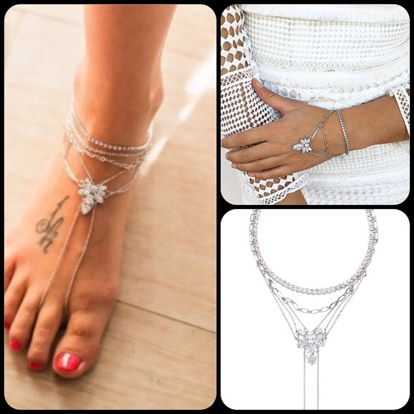bracelet summer golden boho pendant anklet heart ankle barefoot charming woman style gold two jody sa jewelry anklets chains fishbone chain foot for fashion