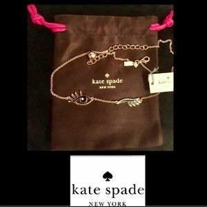 kate spade Jewelry - KATE SPADE•Kiss and Make Up Wink Necklace