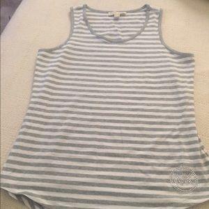 Michael Kors grey/white stripe tank top
