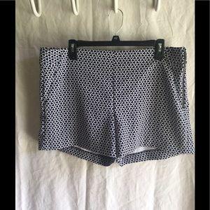 Banana Republic Geometric Print Side Zip Shorts
