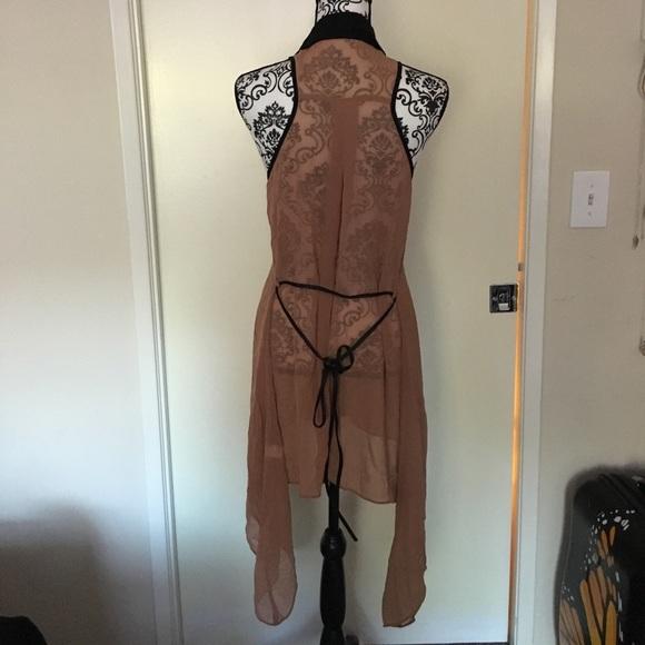71 Off Double Zero Tops Double Zero Brown And Black Chiffon Shirt From Kyla S Closet On Poshmark