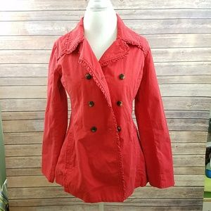 OLD NAVY Juniors Red Lined Peacoat Midweight