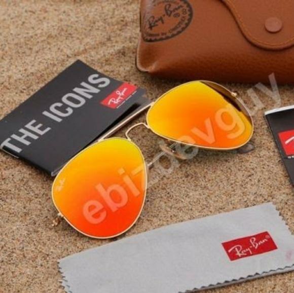 e7056c5532ca Ray-Ban Aviator RB3025 112 69 Orange lenses 58mm. M 595bae654127d034140f65af