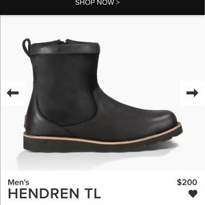 Ugg men's Hendren TL black new Authentic with box