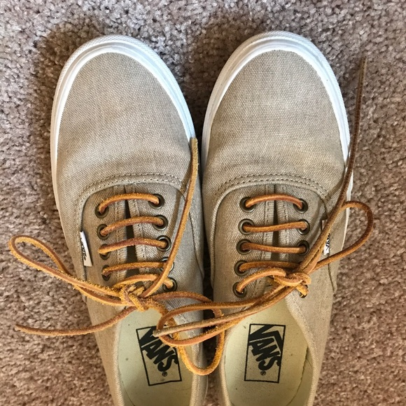b33ce19f27 Vans Shoes - Tan burlap Vans
