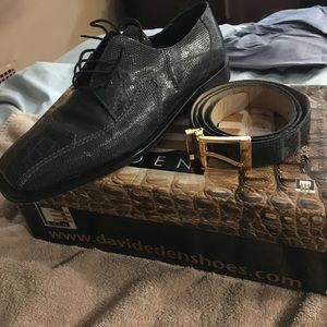 David Eden COMBO DEAL SHOES AND BELT