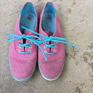 Keds Striped Pink Turquoise Sneakers