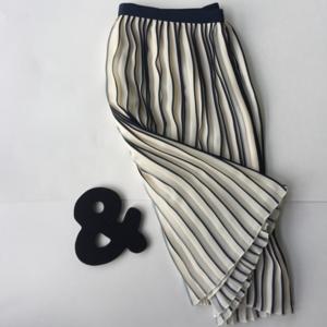 J. Crew Sunburst Skirt in Stripe